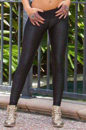 Bia Brazil Black Leopard Legging