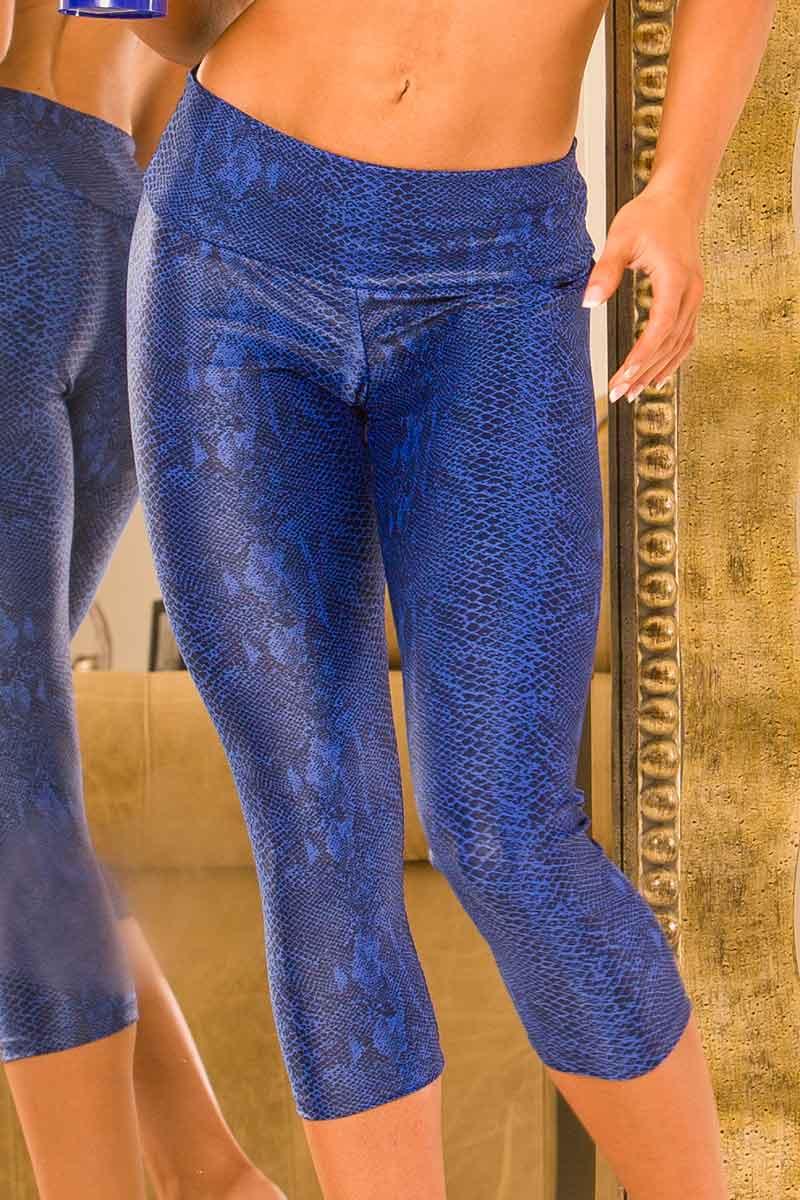 Body Brazil Candida Cobalt Python Capri & Legging