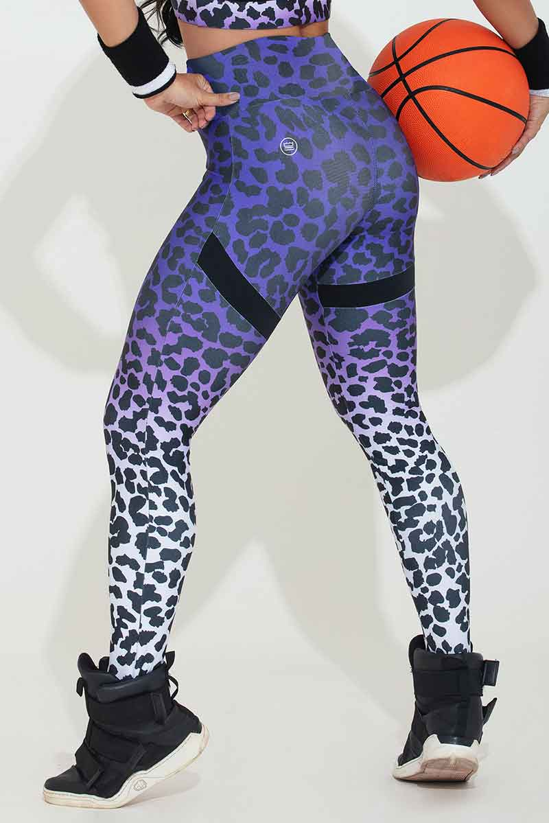 Hipkini Amethyst Leopard Brilliance Legging