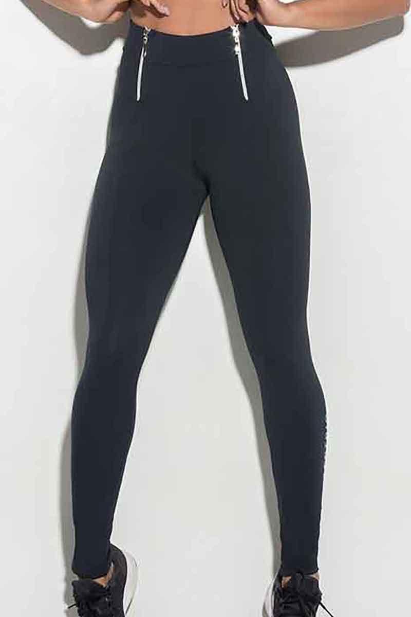 Hipkini Double Zip Legging in S/M & M/L