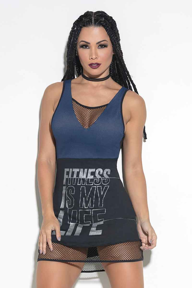 Hipkini Fitness Is My Life Tank Dress