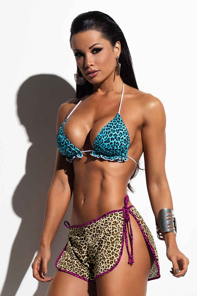 Hipkini Brown Leopard Shorts