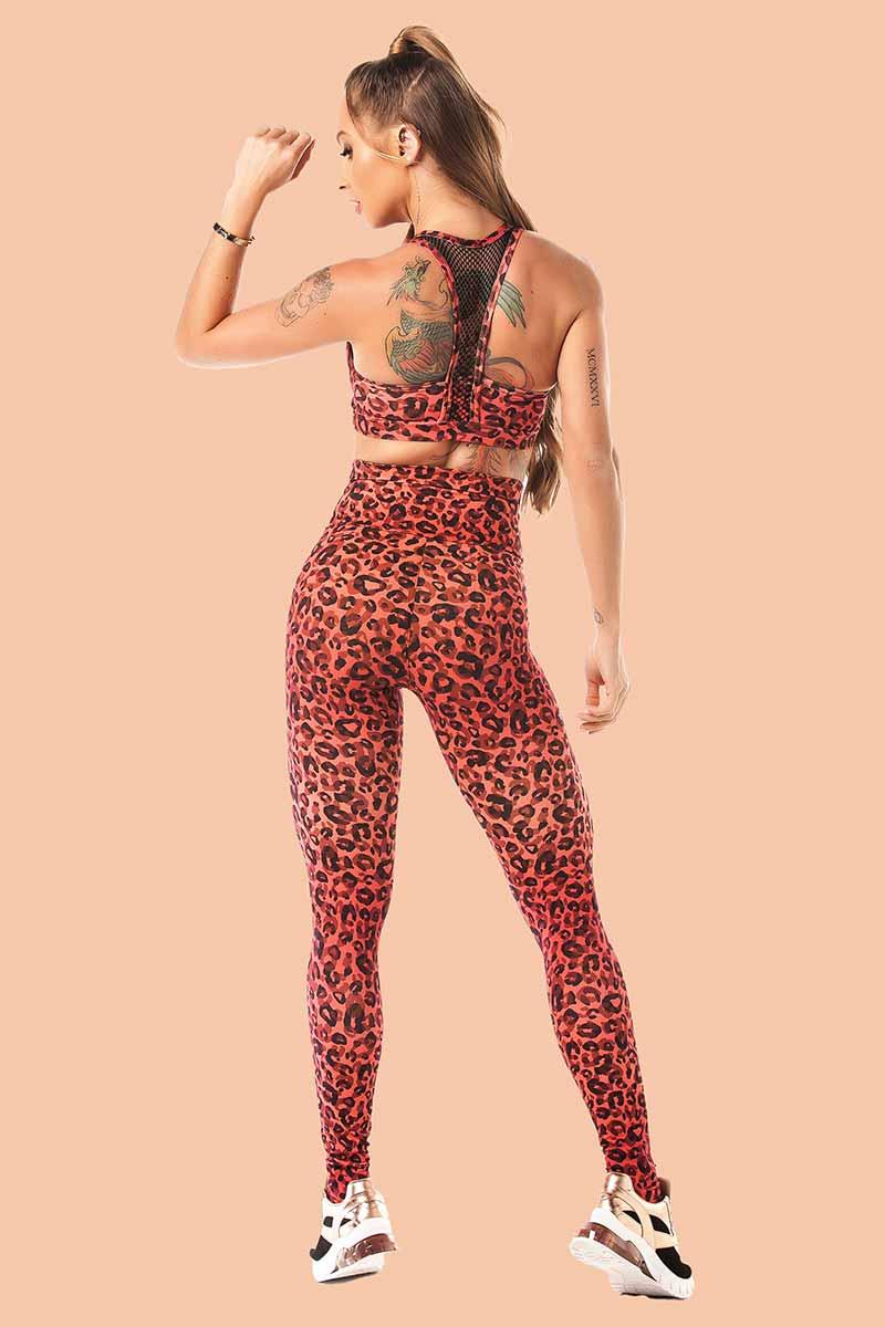 Let's Gym Amber Leopard Legging