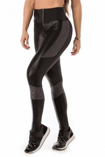Let's Gym Glam Zipper Legging