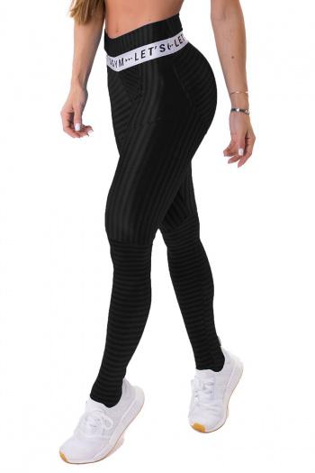Let's Gym Onyx Shadow Stripe Legging