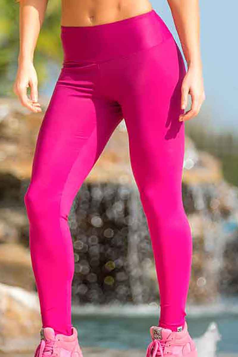 11403f073c8e0 Neon Pink Workout Leggings | Ladies Workout Tights