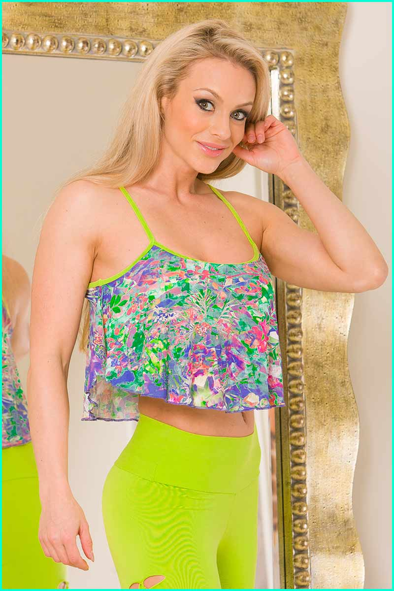 Alto Exotic Flower Flutter Top