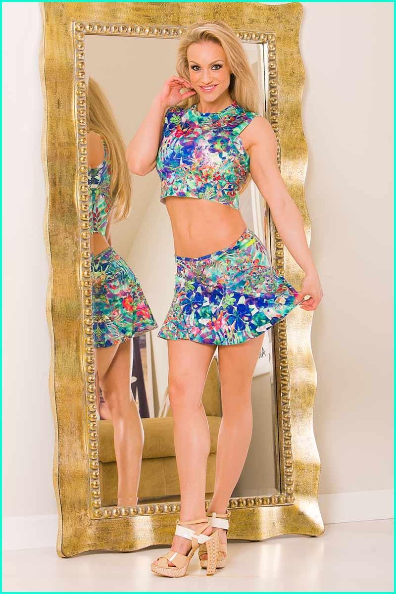 Alto Exotic Flower Flirty Skirt