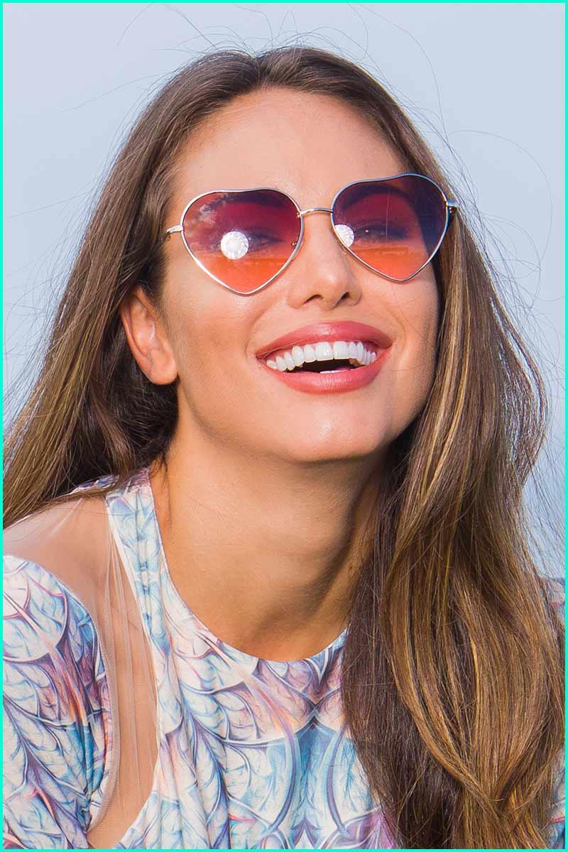 Brazil Amber Heart Sunglasses