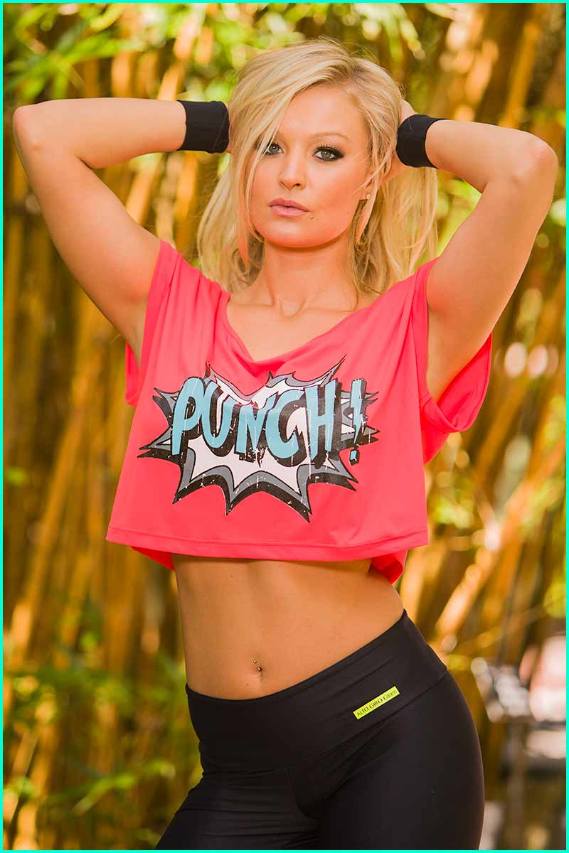 Alto Punch Glow Cropped Top