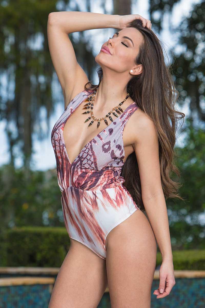 Morena Rosa Python Bodysuit