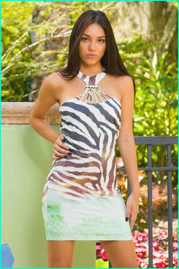 Morena Rosa Animal Magnetism Dress