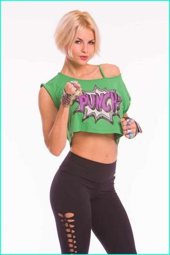 Alto Emerald Punch Cropped Top