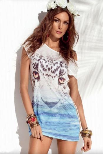 Morena Rosa Tiger Eyes Tank Dress