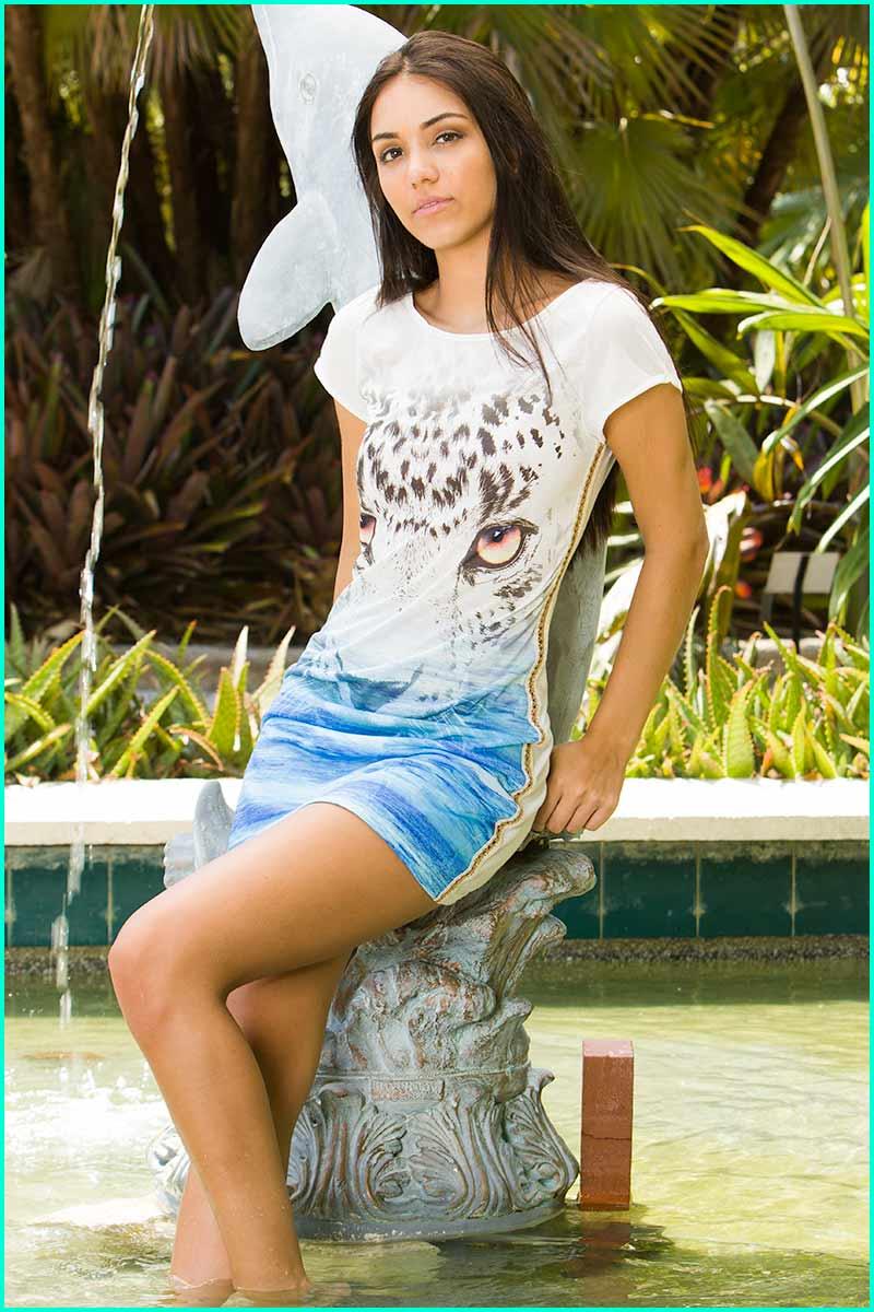 Morena Rosa Tiger Eyes Cover-Up