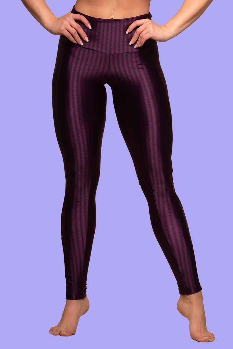 Alto Violet Shadow Stripe Legging