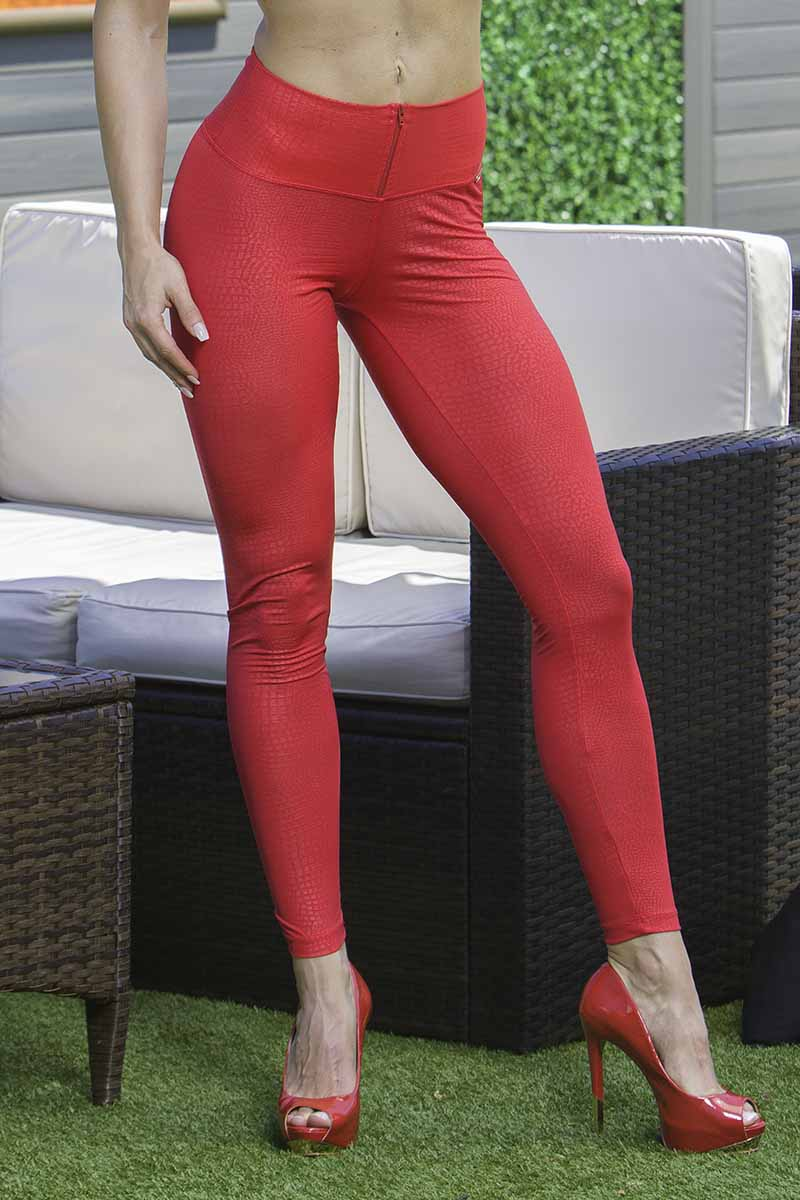 Prata Red Haute Legging