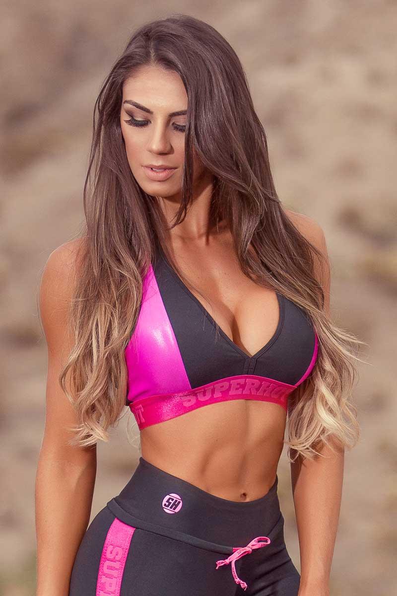 Super Hot Dual Pink Bra