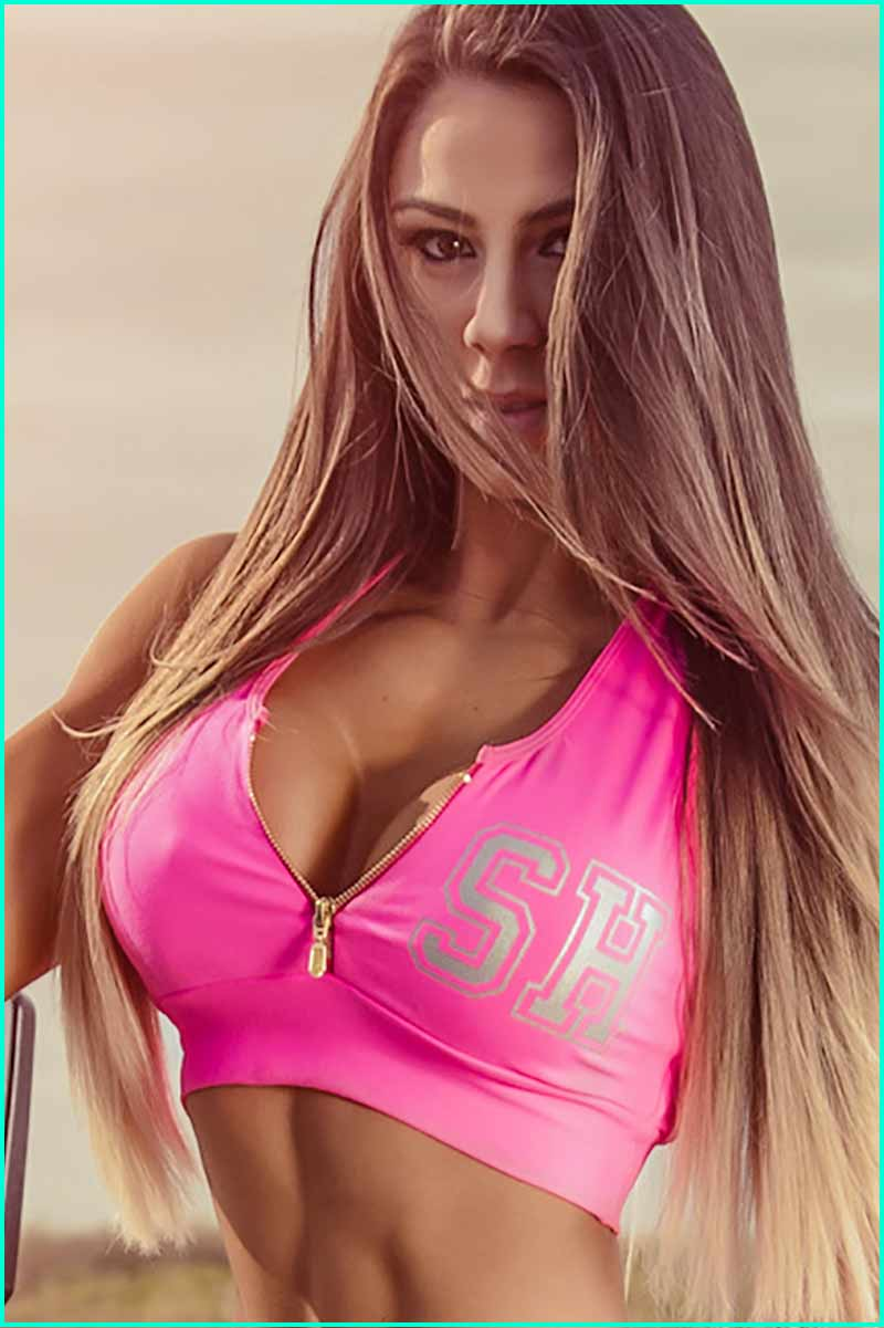 Super Hot Pink Zipper Bra