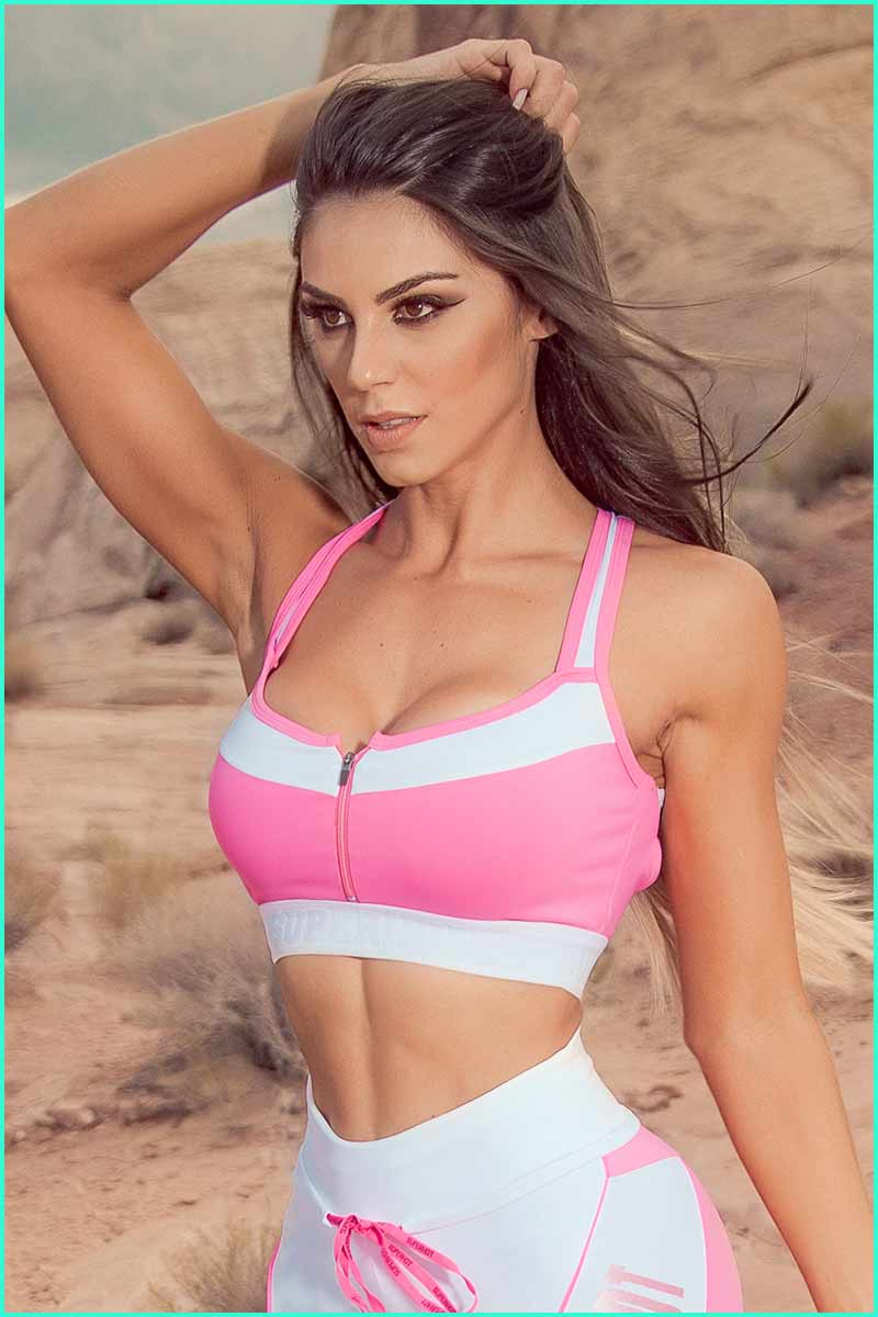Super Hot Power Pink Bra