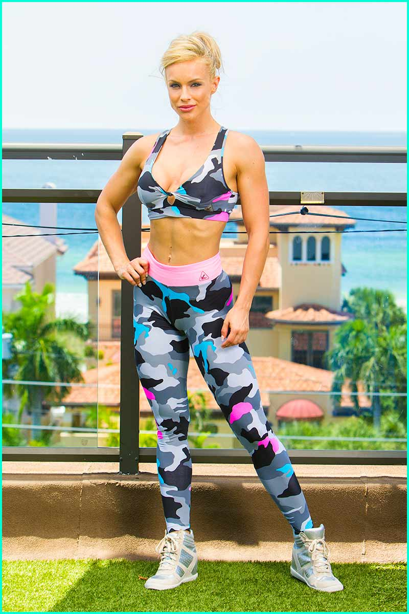 Up Vibe Sweet On Camo Legging